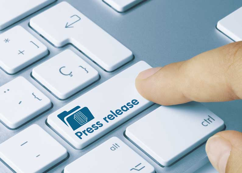 White Keyboard Preparing Press Release
