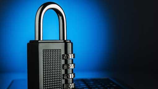 Blue HTTPS SSL Certificate Lock