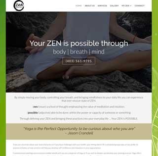 Calgary Yoga Zen Portfolio