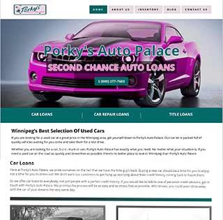 Bad Credit Car Loans Web Design