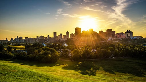 sunset-above-edmonton-downtown