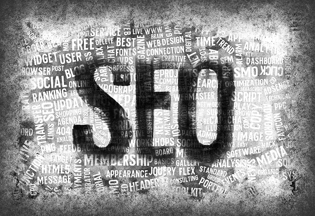 SEO written with many words