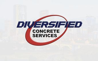 Red and Blue Diversified Logo