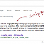 Snippet highlight in SERPs