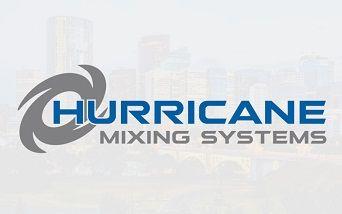 Grey and Blue Hurricane Logo