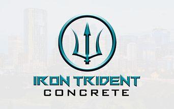 Iron Trident Concrete Logo