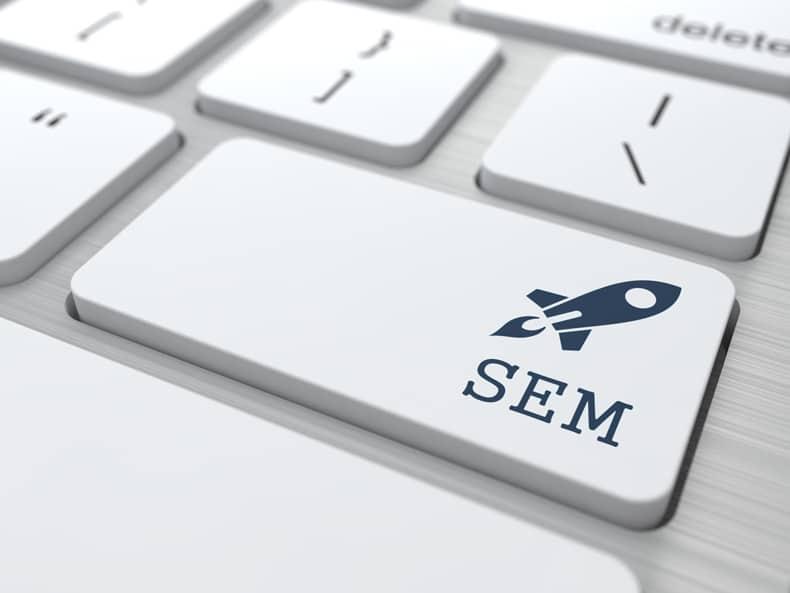 Search Engine Marketing Keyboard