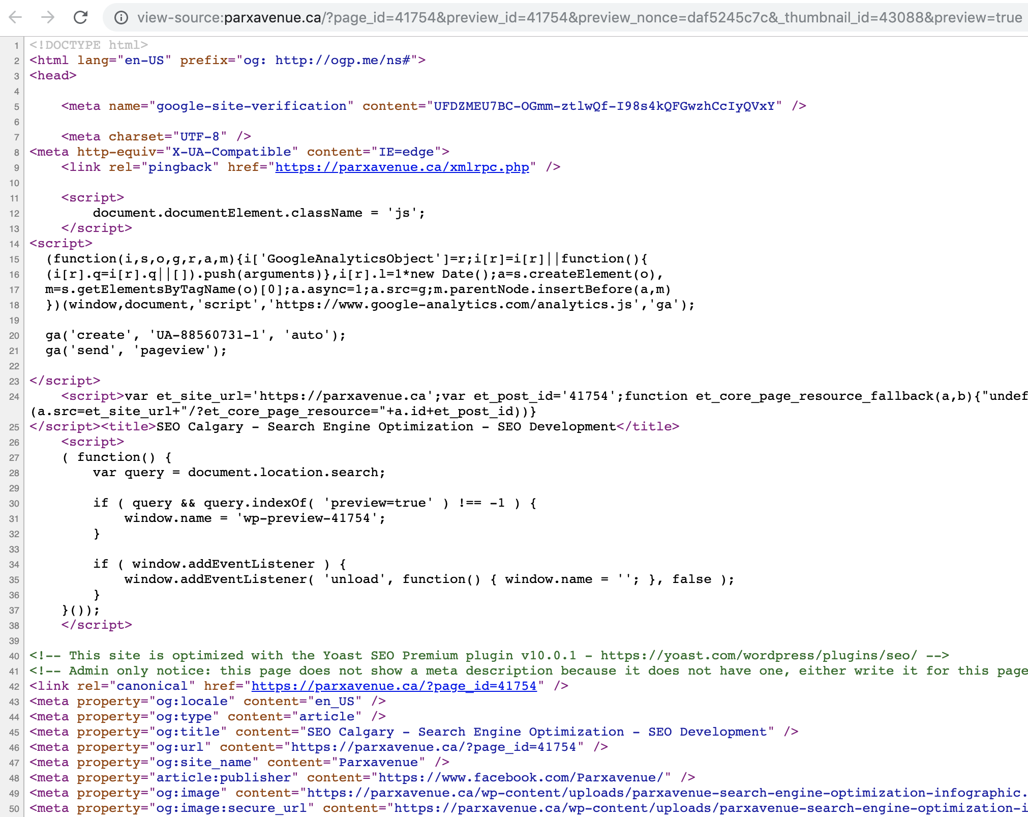 Screen Shot of Source Code
