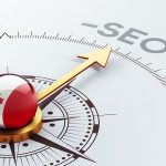 Red and White SEO Compass